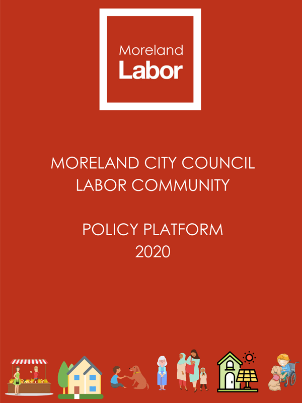 Moreland City Council Labor Community Policy Platform Cover Image